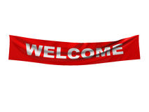 Welcome. 3d illustration of welcome banner isolated over white background Royalty Free Stock Image