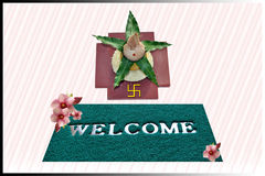Welcome. Symbol with traditional invitation objects Stock Photos