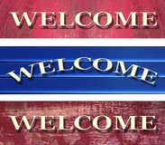 Welcome. Boards with different background Royalty Free Stock Image