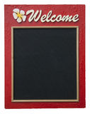 Welcome. The welcome wooden board craftsmanship Stock Photo