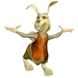 Welcome. 3d rendering of a white rabbit as an illustration in welcome pose Royalty Free Stock Photos