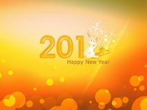 Welcome 2011. Colorful bunny new year 2011 Stock Images