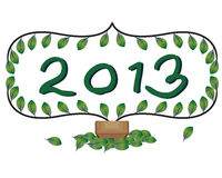 Welcome 2013 card. Hope to be peaceful year royalty free illustration