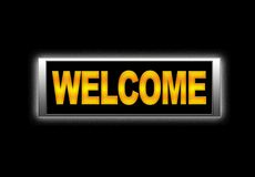 Welcome. Stock Images