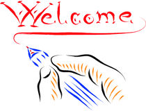 Welcome vector illustration