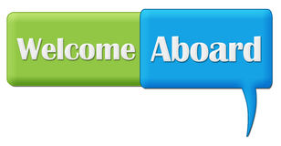 Welcome Aboard Green Blue Comment Symbol Stock Photography