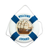 Welcome aboard isolated on white background Stock Photo