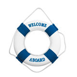 Welcome aboard isolated on white background Royalty Free Stock Images