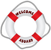Welcome aboard lifebuoy Royalty Free Stock Image
