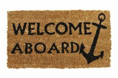 Welcome Aboard Mat Stock Photography