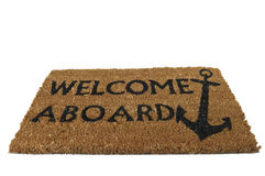 Welcome Aboard Mat, Tilted Stock Images