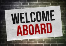Free Welcome Aboard - Poster Concept Stock Photography - 107230432