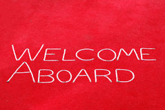 Welcome Aboard Sign royalty free stock photos