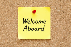 Welcome Aboard Sticky Note Royalty Free Stock Images