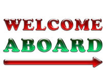 Welcome aboard Stock Images