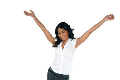 Welcome African American Woman Royalty Free Stock Photos