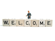 Welcome all !. You are very welcome here Royalty Free Stock Images