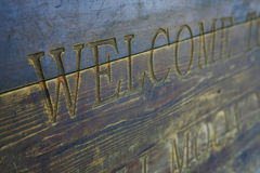 Welcome on ancient door Royalty Free Stock Image