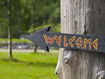 Welcome Arrow Sign Royalty Free Stock Images