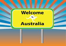 Welcome Australia rays Stock Photo