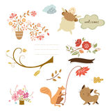 Welcome autumn element Royalty Free Stock Image