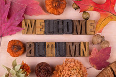 Welcome Autumn Sign Stock Photography