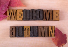Welcome Autumn Sign Stock Images