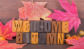 Welcome Autumn Sign Royalty Free Stock Photo