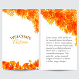 Welcome autumn for web or print. Illustration of welcome autumn for web or print design Stock Photo