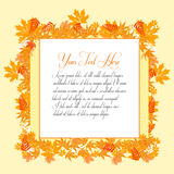 Welcome autumn for web or print. Illustration of welcome autumn for web or print design Royalty Free Stock Photos