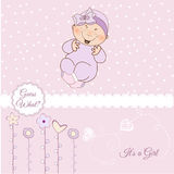 Welcome, baby announcement card. Welcome, baby girl announcement card Royalty Free Stock Photography