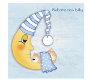 Welcome, baby announcement card. In  format Royalty Free Stock Photos