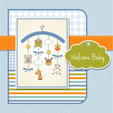 Welcome baby announcement card Stock Photos