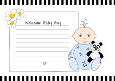Welcome Baby Boy Stock Photo