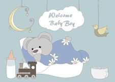 Welcome Baby Boy Royalty Free Stock Image
