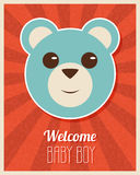 Welcome Baby Boy Card Royalty Free Stock Images