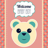 Welcome Baby Boy Card Stock Image