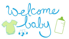 Welcome Baby Boy Stock Photography