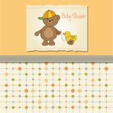 Welcome baby card Stock Images