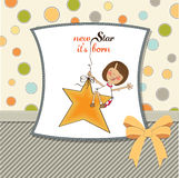 Welcome baby card Stock Photo