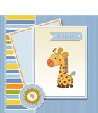 Welcome baby card Stock Photos