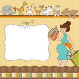 Welcome baby card Stock Photography