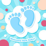 Welcome Baby Card stock illustration