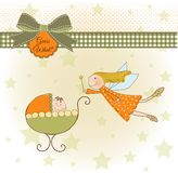 Welcome baby card with fairy Royalty Free Stock Photo