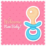 Welcome Baby Card Royalty Free Stock Images