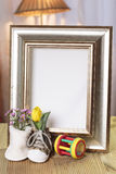 Welcome baby gift frame decorated. Welcome baby gift frame with flower Stock Image