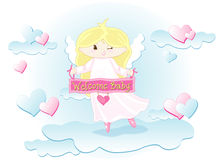 Welcome baby girl Royalty Free Stock Photo