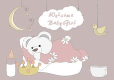 Welcome Baby Girl Stock Images