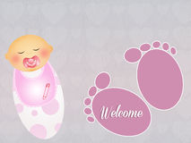 Welcome baby Royalty Free Stock Images