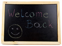 Welcome back Royalty Free Stock Photo
